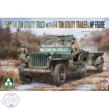 U.S. Army 1/4 Ton Utility Truck with 1/4 Ton Utility Trailer & MP figure (Jeep) - 1/35