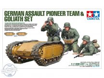 German Assault Pioneer Team & Goliath Set - 1/35 (3 Figures & 2 Goliaths)