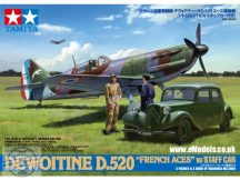 "Dewoitine D.520 ""French Aces"" w/Staff Car and figures - 1/48"
