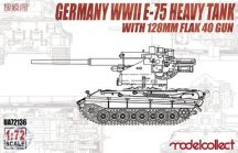 German E-75 Heavy Tank with 128mm Flak 40 Gun - 1/72