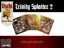 TRINITY SPLATTER 2 airbrush stencils set - 3 lap