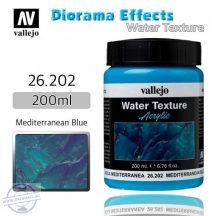 Mediterranean blue water