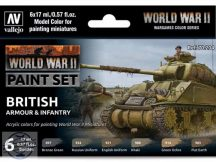 WW II British Armour and Infantry - 6 x 17 ml