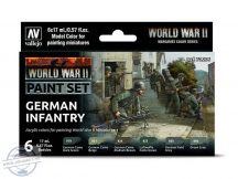WW II German Infantry - 6 x 17 ml