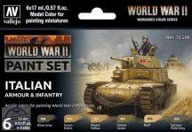 WW II Italian Armour and Infantry - 6 x 17 ml