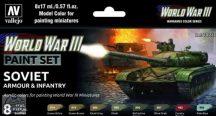 WW III Soviet Armour and Infantry - 6 x 17 ml
