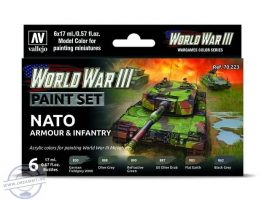 World War III - Nato Armour & Infantry - 6 x 18 ml