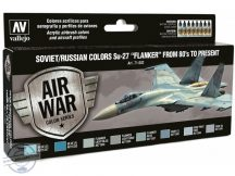 "Soviet/Russian Colors Su-27 ""Flanker"" from 80's to Present  8x17 ml"