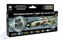 """Soviet / Russian colors MiG-21 Fishbed from """"Cold War"""" to 90's  8x17 ml"""