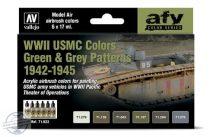 WWII USMC Colors Green & Grey Patterns 1942-1945 - 6 x 17 ml
