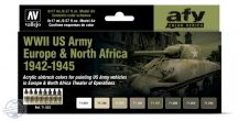 WWII US Army Europe & North Africa 1942-1945 - 8 x 17 ml