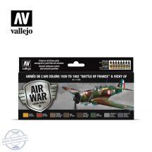 """Armée de l'Air colors 1939 to 1942 """"Battle of France"""" & Vichy AF - 8 x 17 ml"""