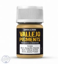 Dark Yellow Ochre - pigmentpor, 35 ml.