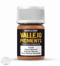 Natural Sienna - pigmentpor, 35 ml.