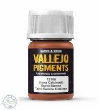 Burnt Sienna - pigmentpor, 35 ml.