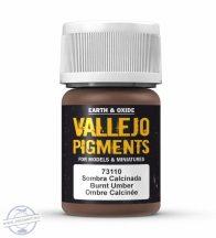 Burnt Umber - pigmentpor, 35 ml.