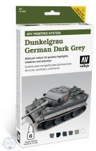 Dunkelgrau German Dark Grey - Model Air Set AFV - 6 x 8 ml.