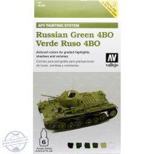 Russian Green 4BO - Model Air Set AFV - 6 x 8 ml.