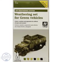 AFV Weathering for Green Vehicles Set - 7 x 8 ml.