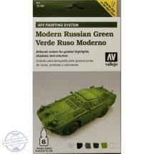 Modern Russian Green - Model Air Set AFV - 6 x 8 ml.