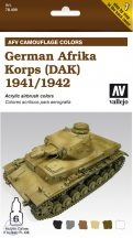 German Afrika Korps (DAK) 1941/1942 - Model Air Set AFV - 6 x 8 ml.