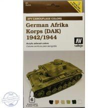 German Afrika Korps 1942-1944 (DAK) - Model Air Set AFV - 6 x 8 ml.