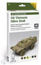 US Vietnam Olive Drab Set - Model Air Set AFV - 6 x 8 ml.