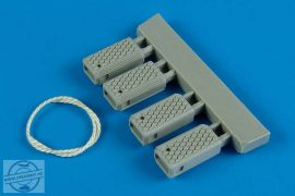 Universal Navy Wheel Chock with Nylon Rope - early prod. - 1/32