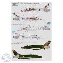 North-American F-100D Super Sabre (3) 56-3000 Tr... - 1/48