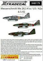 Messerschmitt Me-262A1a/U3/A2A/ S-92 (8) A1a  - 1/48