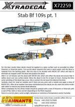 Messerschmitt Bf-109E/F/G Pt 1 (13) Stab Marking... - 1/72