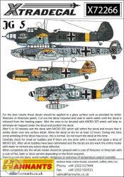 Luftwaffe JG 5 Squadron History (14) Messerschmitt - 1/72